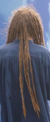 Man with very long hair