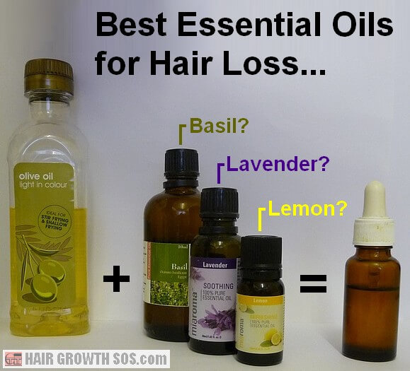 Essential oils used for hair loss with carrier oil