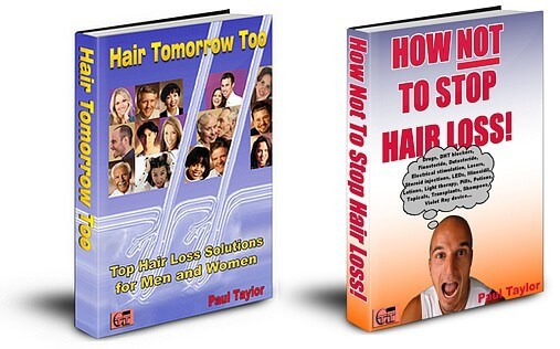 Hair Tomorrow Too and How Not To Stop Hair Loss ebook covers