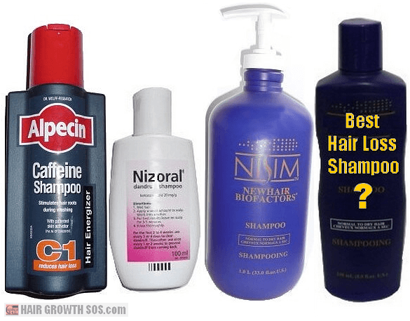 Nizoral, Nisim and Alpecin hair loss shampoos