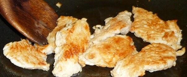 Burnt turkey in frying pan