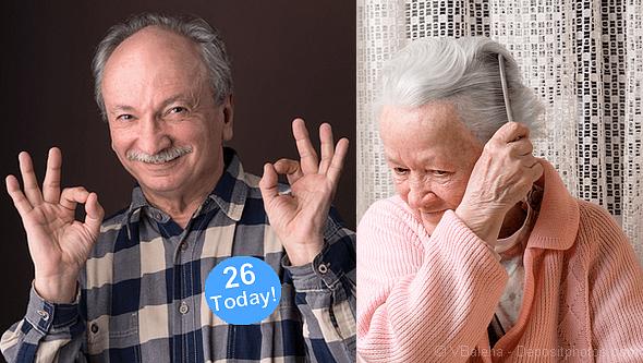 Elderly man and lady