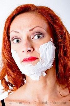 Female facial hair growth