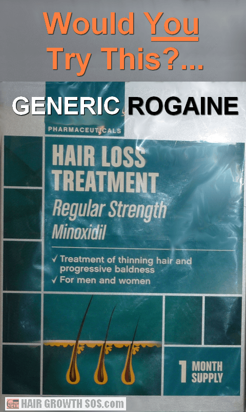Generic minoxidil drug product for hair loss
