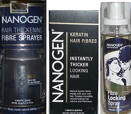 Nanogen Hair Thickening Fibre Spray and Fibre Locking Spray