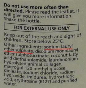 Nizoral ingredients label