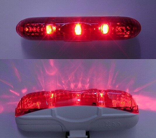 Red LED bike light