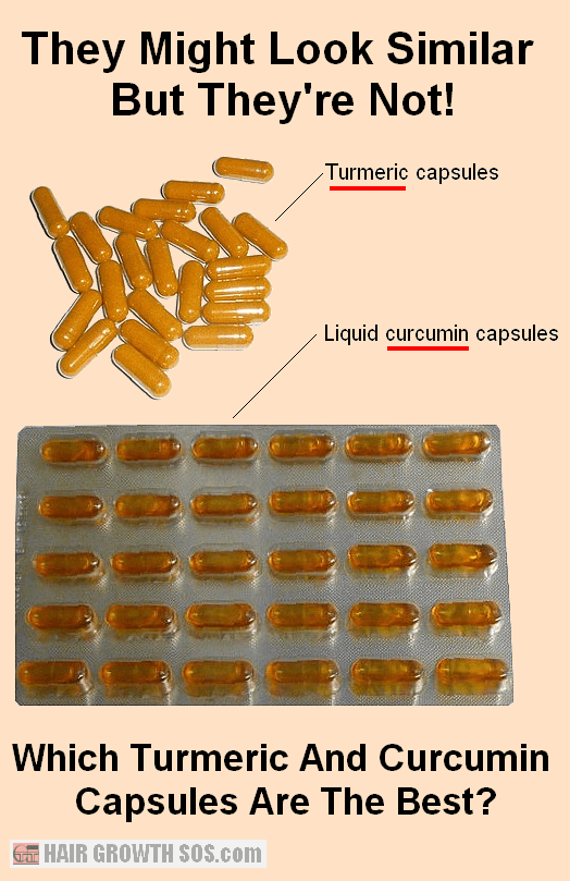 Turmeric and curcumin capsules