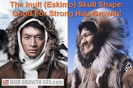 Inuit facial features in a man and woman