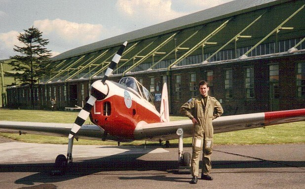 Paul Taylor during RAF pilot training